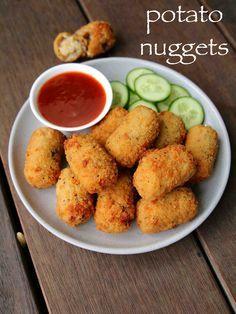 potato nuggets recipe   spicy potato nuggets   potato snacks recipes Pakora Recipes, Paratha Recipes, Chaat Recipe, Chicken Pakora Recipe, Momos Recipe, Paneer Recipes, Spicy Recipes, Snacks Recipes, Sandwich Recipes