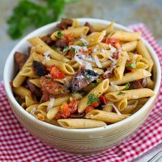 Roasted Tomato Chicken Sausage Pasta...use gluten free pasta OR spaghetti squash!