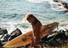 i wish i had a prettier surfboard