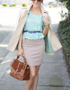 Polka dots #outfit #style #look