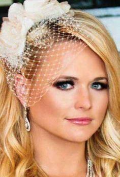 miranda lamberts birdcage veil - Google Search