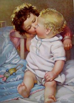 Lovely. Baby Images, Baby Pictures, Baby Prints, Nursery Prints, Baby Illustration, Vintage Pictures, Vintage Images, Romantic Pictures, Vintage Nursery