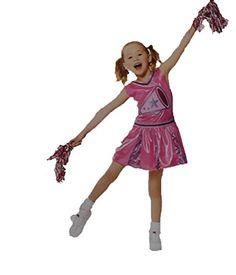Onceuponasale Cheerleader Girls Small 4-6 Halloween Costume Cheer Leader w  Pompoms Poms Dress Best 628721318
