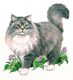 Linda Picken Art Studio / Maine Coon Cat Garlands.jpg