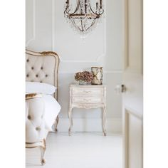 Buy the beautifully designed Delphine Distressed Painted Bedside Table (New), by The French Bedroom Company. Shop 24 hours a day for Effortless Luxury Online. French Furniture, Furniture Design, Bedroom Furniture, Bedroom Decor, Bedroom Inspo, Bedroom Ideas, French Bedside Tables, Console Tables, Upholstered Beds