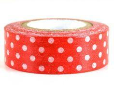 Strawberry – GetWashi.com - Red with white polka dot washi tape.  $1.97
