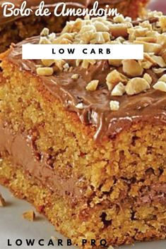 Just Desserts, Delicious Desserts, Bolos Low Carb, Granola, Dieta Paleo, Low Carbon, Gluten Free Sweets, Sweet Pastries, Cake Bars
