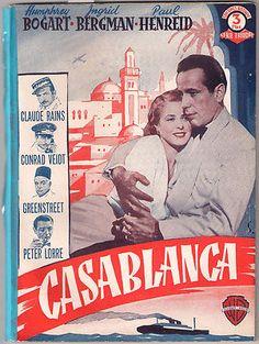 Casablanca Humphrey Bogart Ingrid Bergman Spanish Photoplay
