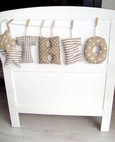 NEW sweet embellishment of names of baby sweater decoration on deko Baby Room Diy, Baby Bedroom, Quilt Baby, Sewing For Kids, Baby Sewing, Nursery Decor, Room Decor, Diy Bebe, Baby Pullover