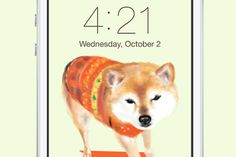 Original Dog Wallpaper (Akita) design by Little Lu.   Buy it in here: https://creativemarket.com/littlelu/28070-Original-Dog-Wallpaper-%28Akita%29
