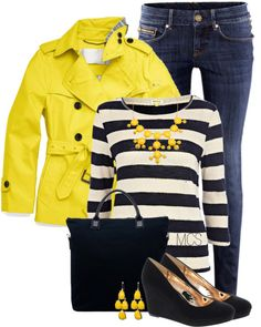 """""""Navy and Yellow"""" by mclaires on Polyvore"""