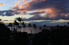 We stayed in a condo in Kihei, Maui across the street from the beach and this was the view from our room.