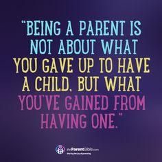 Being A Parent…