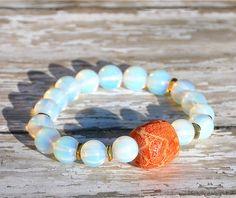 Opal with Sponge Coral Beaded Bracelet