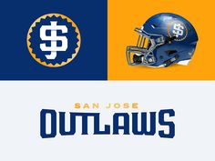 San Jose Outlaws designed by Zilligen Design Studio. Connect with them on Dribbble; the global community for designers and creative professionals. Football Uniforms, Team Uniforms, Football Helmets, School Football, Football Logo Design, American Sports, American Football, International Football, Sports Graphics