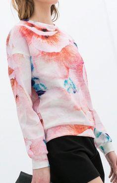 Watercolor Floral  Sweatshirt