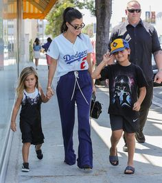 """3,647 Likes, 13 Comments - @kardashianuniverse_ on Instagram: """"Kourtney, Mason and Penelope out in LA yesterday. ❤️"""""""