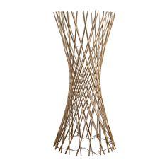 Tall Dark Brown Rattan Lattice Wicker Twig Decorative Floor Lamp Light - With 80 Warm White Fairy Lights Rattan, Wicker, Warm White Fairy Lights, Decorative Floor Lamps, Wood Sticks, Wire Shelving, Dark Wood, Led, Modern