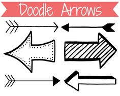 Doodle Arrows Clip Art Graphics for by CommercialClipArt on Etsy, $2.00