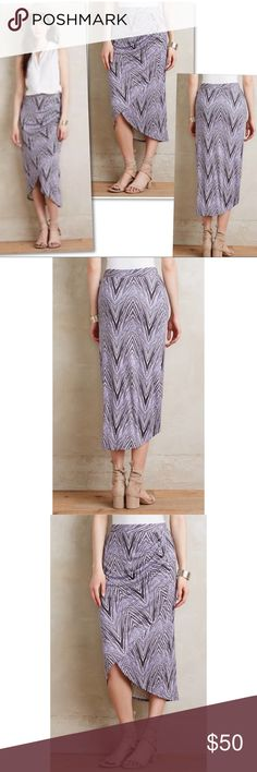 "Anthropologie Maeve Monetta Midi Faux Wrap Skirt M Anthropologie Maeve Monetta Midi Faux Wrap Skirt M - 30-36"" WAIST 28-35"" LENGTH - 97% RAYON 3% SPANDEX / LINING: 100% RAYON Anthropologie Skirts Midi"