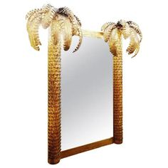 Wall Mirror - Palm Maison Jansen Style Pair Available European Mid-Century Modern Mid Century Bedroom, Mid Century Modern Furniture, Mid-century Modern, Palm, Wall Lights, Wall Mirror, Home Decor, Style, Products