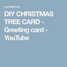 DIY CHRISTMAS TREE CARD - Greeting card - YouTube