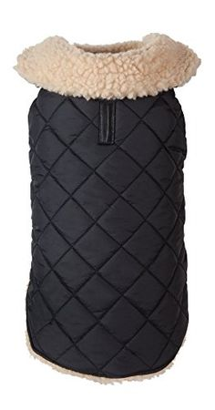 fabdog Quilted Shearling Dog Coat Black (24') ** Visit the image link more details. (It is Amazon affiliate link) #photooftheday