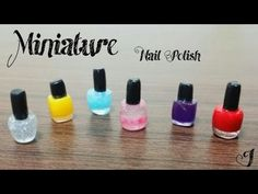 how to: miniature nail polish Dollhouse Tutorials, Diy Dollhouse, Barbie Miniatures, Dollhouse Miniatures, Minis, Doll House For Boys, Custom Lps, American Girl, Doll Home