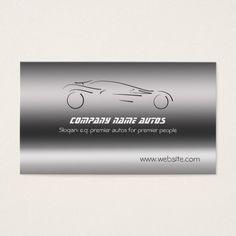 Auto Car on Brushed Steel - Sportscar template Business Card #zazzle HightonRidley