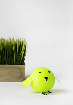 Tennis Ball Baby Chicks is a cute kids craft for Easter or Spring via @PagingSupermom.com