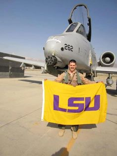 #LSU Football Class of 2005 Gant Petty takes his Tiger Pride with him! He is currently serving the United States in Afghanistan flying the A-10 Thunderbolt II as a member of the US Air Force. Gant Loves Purple, Lives Gold and represents the best of Red, White and Blue!