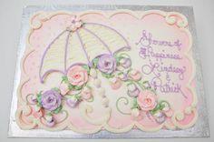 Bridal shower sheet cake from Bethel Bakery