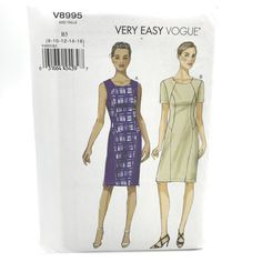 Vogue Sewing Patterns, Easy Sewing Patterns, Vintage Sewing Patterns, Dress Patterns, Pattern Dress, Make Your Own Clothes, Doll Wardrobe, Miss Dress, Princess Seam