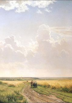Noon, View near Moscow  - Ivan Shishkin - 1869 AD