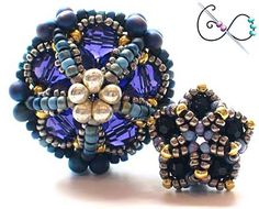 Ionic Polyhedra Beaded Bead -- another reason I need to start making some money. These are fabulous!