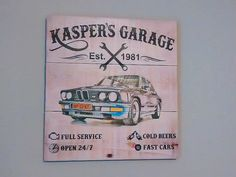 Garage Sign - Wooden Plaque Sign - Ford Car 1935 Sign - Car Sign - Dad Sign - Personalized Gift - Customized Gift
