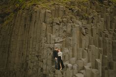 Iceland engagement photos of Caroline and Ben by Nordica Photography | via junebugweddings.com