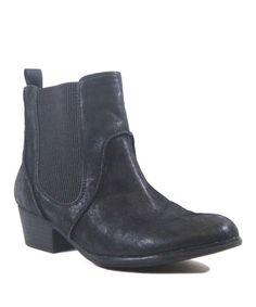 Look at this #zulilyfind! Black Dexter Ankle Boot #zulilyfinds
