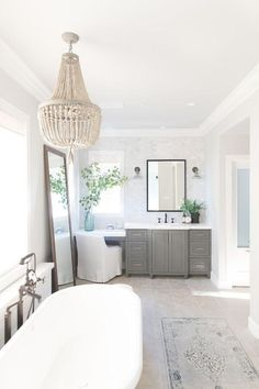 22 Amazing Farmhouse Master Bathroom Remodel Ideas