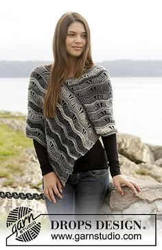 Better Days Poncho By DROPS Design - Free Crochet Pattern - (ravelry)