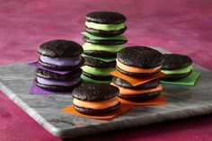 Black Velvet Whoopie Pies start with a cake mix for a quick and easy Halloween treat.