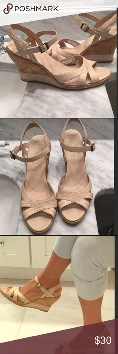 🌎Timberland Earthkeepers Anti Fatigue Wedges🌎 🌎Great nude color wedges to wear anywhere, Timberland, known for comfort and padded foot bed, these are great travel shoes or wear all day shoes.  Perfect combination of comfort and fashion. 🌎 EUC Timberland Shoes
