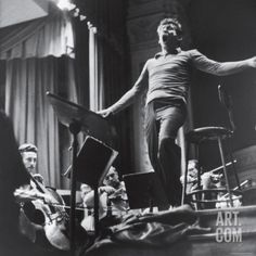 Maestro Leonard Bernstein Conducting the NY Philharmonic Orchestra for a Concert at Carnegie Hall Premium Photographic Print by Alfred Eisenstaedt at Art.com