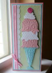 Ice cream cone card by Faith Abigail Designs