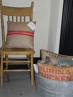 Coffee Sack Pillows!
