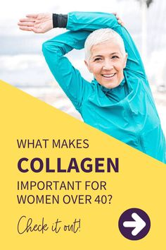"""Collagen: """"The Fountain of Youth   Taking collagen gives us better resistance to the environmental factors that cause wrinkles and lines! It is mainly responsible for the elasticity of our skin and hair. It also promotes skin structure, keeping the skin surface firm and smooth! Collagen // Collagen for Skin Health // Collagen Benefits for the Skin #Collagen #CollagenForSkinHealth #CollagenBenefitsForTheSkin Menopause Relief, Menopause Symptoms, Health Benefits Of Collagen, Natural Remedies For Menopause, Skin Structure, Environmental Factors, Over 40, Fountain Of Youth"""