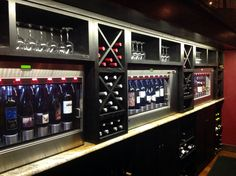 Self Service Wine Bar @thecellarcda Great selection- grab a glass and enjoy some live music!