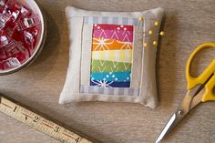 Good Neighbors ~ A Pincushion Party and Pattern! With a paper piecing pattern