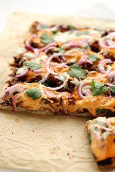 Grilled BBQ Jackfruit Pizza with Hemp Seed Cheddar | SKIP THE BREAD #vegan #vegetable #main