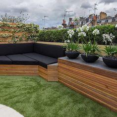 Vibrant roof terrace